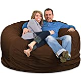 ULTIMATE SACK Bean Bag Chairs in Multiple Sizes and Colors: Giant Foam-Filled Furniture - Machine Washable Covers, Double Stitched Seams, Durable Inner Liner. (6000, Brown Suede)