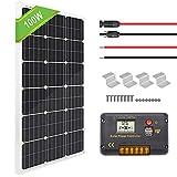 ECO-WORTHY Panneau solaire monocristallin 100W +...