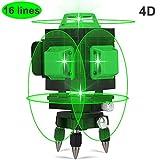 Niveau laser, Careslong 16 avec ligne de nivellement automatique 4 * 360...