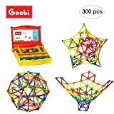 Goobi 300 Piece Construction Set with Instruction Booklet | STEM Learning | Assorted Rainbow Colors