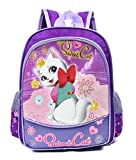 Mochila infantil para niña lila, bolso escolar para niños 32cm alto - 25cm ancho