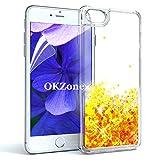 OKZone iPhone 8 ケース iPhone 7 ケース iPhone SE ケース HDスクリーンフィルム付き キラキ……