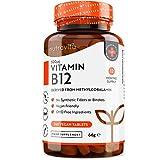 Comprimidos de vitamina B12 500 mcg - 365 comrpimidos veganos (suministro para 1 año) - Suplemento...