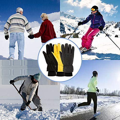 Koxly Winter Gloves Waterproof Resistant Windproof Insulated Warm for Driving Cycling Running Outdoor Work for Men and Women