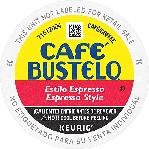 Caf Bustelo Coffee Espresso Style Dark Roast Coffee, 72 K Cups for Keurig Coffee Makers