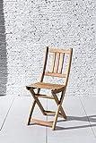 XXS Gartenstuhl Sitzmöglichkeit aus Akazien-Holz massiver Klappstuhl - 4