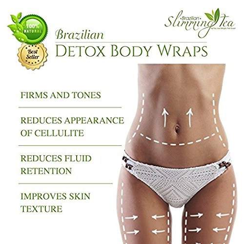 Brazilian Detox Clay Body Wraps [8-Applications] Slimming Home Spa Treatment for Cellulite, Weight Loss, Stretch Marks | Natural, Purifying Detoxifier for Smooth, Toned Skin (8 Pack) 3