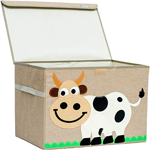 Large Toy Chest. Canvas Soft Fabric Childs Toy Storage Bin