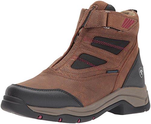 Ariat Women's Terrain Pro Zip H2O Work Boot, Brown, 6 B US