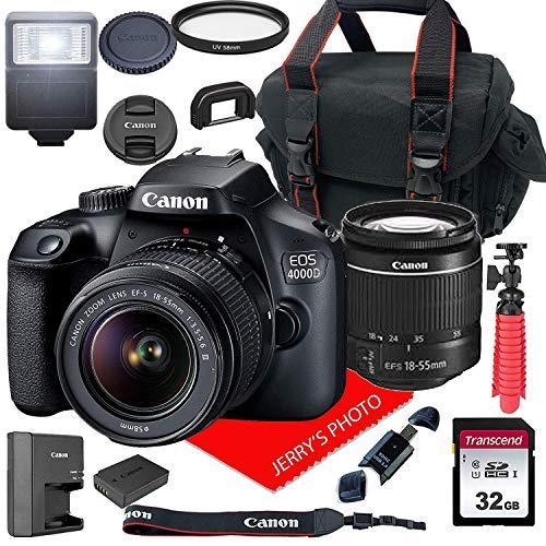 Canon EOS 4000D DSLR Camera w/Canon EF-S 18-55mm F/3.5-5.6 III...