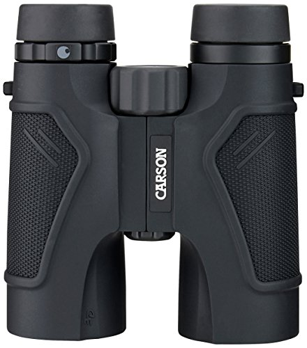 Carson 3D Series High Definition Binoculars with ED Glass, 10x42mm, Black