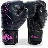 ¡Guantes de boxeo mujer Martial hechos del mejor material para ofrecer una larga durabilidad! Guantes de kickboxing para artes marciales, MMA, sparring y boxeo con óptima absorción de impactos!