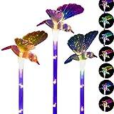 Outdoor Solar Garden Stake Lights, K-MAN 3 Pack Solar Powered Lights Multi-Color Changing Solar Hummingbird Lights for Garden,Patio,Backyard, Path