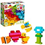 These building bricks let toddlers build endless creative toys to help little imaginations flourish. This building kit is the perfect toddler toy for hours of build and play. This building kit features 80 colorful LEGO DUPLO pieces in different shape...