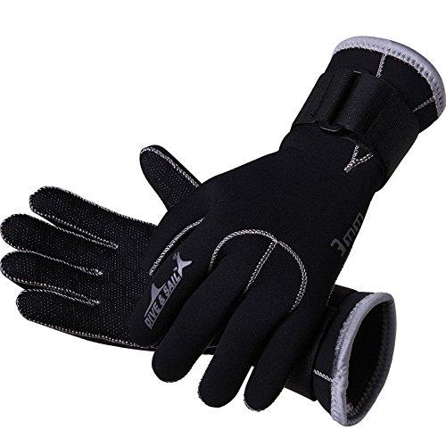 Dive & SAIL Wetsuits Handschuhe 3mm Neopren Warm Tauchen Kanu Handschuhe (XL)