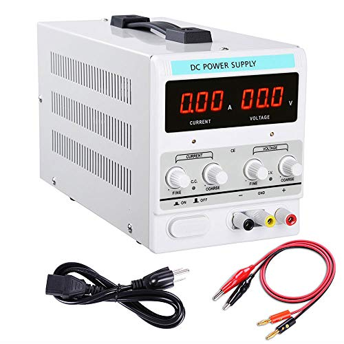 Power Supply Precision Variable Digital Adjustable w Clip Cable