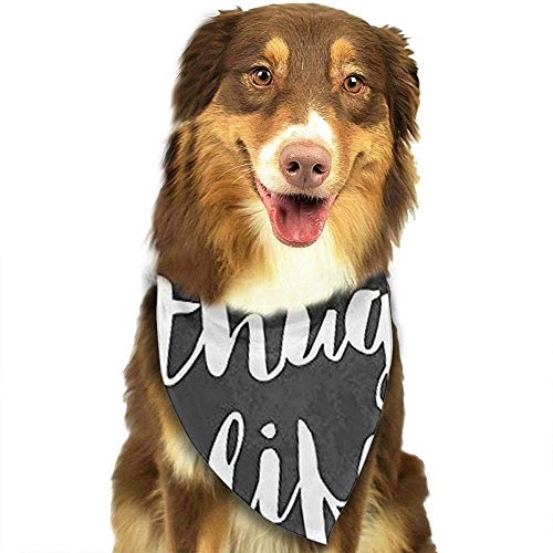 YAGEAD Pañuelo para Perros Puppy and Pet Bandanas, Thug Life Flowerfunny Pet Scarf