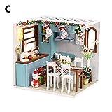oshidede DIY Hütte Kabine Handgemachte Montage Kinder Weihnachten Geburtstag Geschenk-Puzzle Spielzeug-Haus
