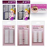 5 Packs Natural Invisible Single/Double Side Eyelid Tapes Stickers, Medical-use Fiber Eyelid Strips, Instant lift Eye Lid Without Surgery, Perfect for Hooded, Droopy, Uneven, Mono-eyelids