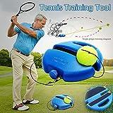 Funique Tennis Trainer Rebond Plinthes Balle de Tennis Practise Outil de Sport pour Équipement Exercice de Tennis de Base Débutant