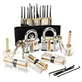 ZITFRI 15 PCS Kit Crochetage Serrure Lockpicking Cadenas Transparent 7...