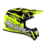 Suomy Casque Moto Cross MR Jump, Jaune Fluo/Noir, 2XL