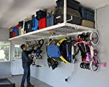 SafeRacks Overhead Garage Storage Combo Kit   Two 4 ft. x 8 ft. Racks (18'-33')   18pc Deluxe Hook Accessory Pack