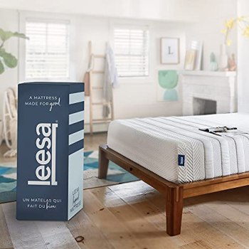 """Leesa Legend Mattress, California King Size Memory Foam Bed-in-a-Box, 12""""/ CertiPUR-US Certified/with Organic Cotton Mattress Cover"""