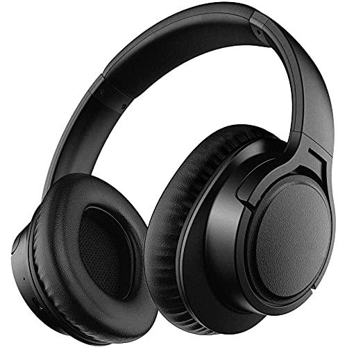 Cuffie Bluetooth, Cuffie Senza Fili Over Ear con Microfono, Auricolare Stereo Hi-fi, Modalit Cablata Wireless, 25 ore di Riproduzione per Bambini, Adulti, TV, PC, Lezioni Online, Ufficio a Casa