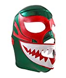 MIL MASCARAS SHARK Adult Lucha Libre Wrestling Mask (pro-fit) Costume Wear - Green