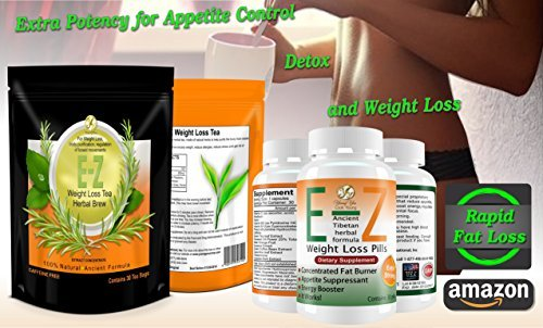 E-Z Weight Loss Detox Tea, E-Z Diet Pills, Appetite Suppressant, Fast Weight Loss 1