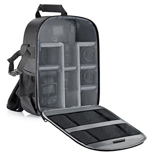 Neewer Mochila para cámara flexible acolchada con separadores con protector antigolpes, para...