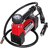 SuperFlow Portable Air Pump, 12 volt Air Compressor, Tire Inflator 140 PSI, 12v air compressor for Cars, Trucks, and Bikes.