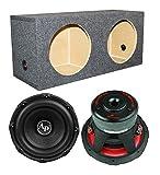 Audiopipe TXX-BD3-12 12' 3600W Car Audio Subwoofers (Pair) + Dual Sealed Sub Box