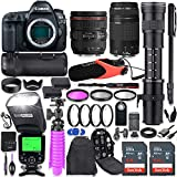 Canon EOS 5D Mark IV DSLR Camera Kit with Canon 24-70mm f/4L is USM & 75-300mm Lenses + 420-800mm...