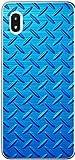 Galaxy A20 SC-02M SCV46 ケース ギャラクシーA20 カバー らふら メタル ブルー