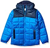 Columbia Boys' Big Puffect II Puffer Full Zip, Super Blue/Collegiate Navy, Medium