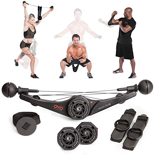 OYO Personal Gym - Full Body Portable Gym Equipment Set for Exercise at Home, Office or Travel - SpiraFlex Strength...