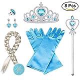 Vicloon 8pcs Princesse Accessoires pour Costume d'Elsa la Reine des Neiges...