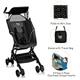 BABY JOY Lightweight Stroller, Pocket Folding Stroller with Aluminum Structure, Airplane Compartment Portable, Includes Travel Bag, No Assembly Needed (Black)