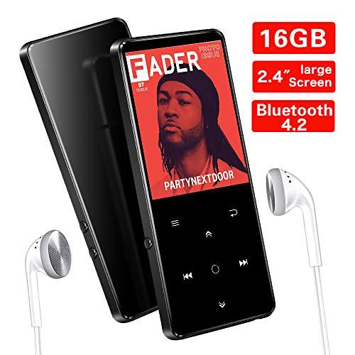 Lettore MP3 da 16 GB con Bluetooth 4.2, Supereye 2.4 Pollici Portatile Lossless Sound Lettore MP3,...