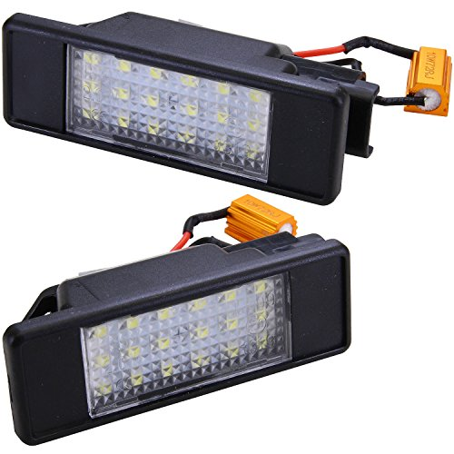 Luce targa a LED bianca, per Sprinter W906, Vito / Viano W639, Pathfinder, Note, NV200, Primera, Qashqai, Juke, Pulsar, Navara