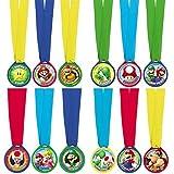 Amscan International – Lot de 12 médailles Super Mario - 396611