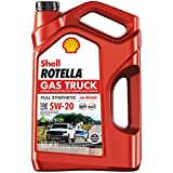 Shell Rotella Gas Truck Full Synthetic 5W-20 Motor Oil for Pickups and SUVs (5-Quart, Single Pack)