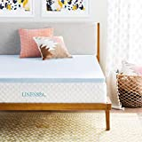 Linenspa 2 Inch Gel Infused Memory Foam Mattress Topper, Full