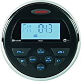Jensen MS3ARTL AM/FM/USB/Bluetooth Compact 3.5' Round Waterproof Stereo with App Control