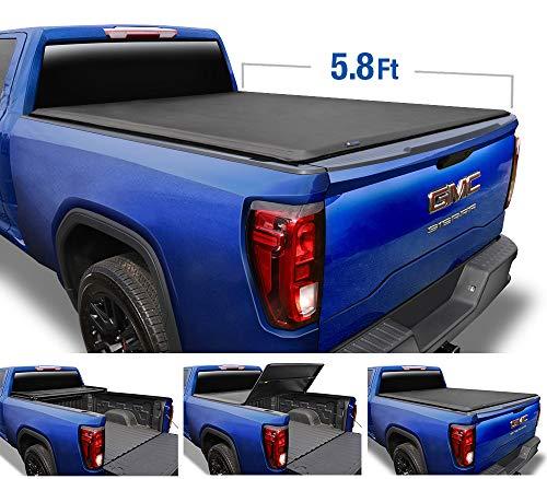 Tyger Auto T3 Soft Tri-Fold Truck Bed Tonneau Cover for 2019-2020 Chevy Silverado/GMC Sierra 1500 New Body Style Fleetside 5.8' Bed TG-BC3C1053
