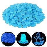 Ulikey 200 Pezzi Pietre Luminosi, Ciottoli Fluorescenti Incandescente Ciottoli incandescenza Pietre Rocce Colorate Decorazione per Giardino Percorso Cortile Acquario Serbatoio di Pesce (Blu)