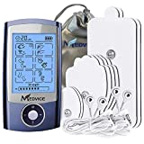 MEDVICE Rechargeable Tens Unit Muscle Stimulator, 2nd Gen 16 Modes & 8 Upgraded Pads for Natural Pain Relief & Management, FDA Cleared Electric Pulse Impulse Mini Massager Machine