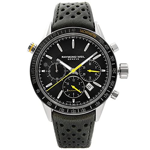 Raymond Weil Freelancer Automatik Uhr, Chronograph, PVD, Tag, 7740-SC1-20021